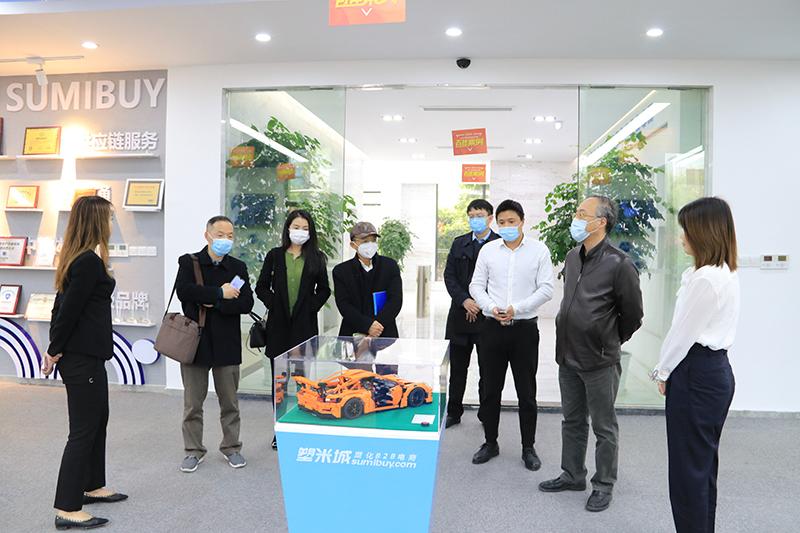 上海市浦东新区商务委副主任陆启星一行莅临塑米城参观考察